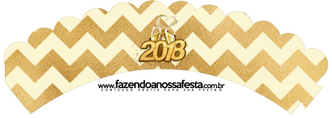 Saias Wrappers para Cupcakes 2 Ano Novo 2018