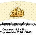 Saias Wrappers para Cupcakes Ano Novo 2018