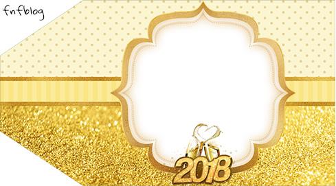 Tag Agradecimento Etiqueta Ano Novo 2018 Kit Festa