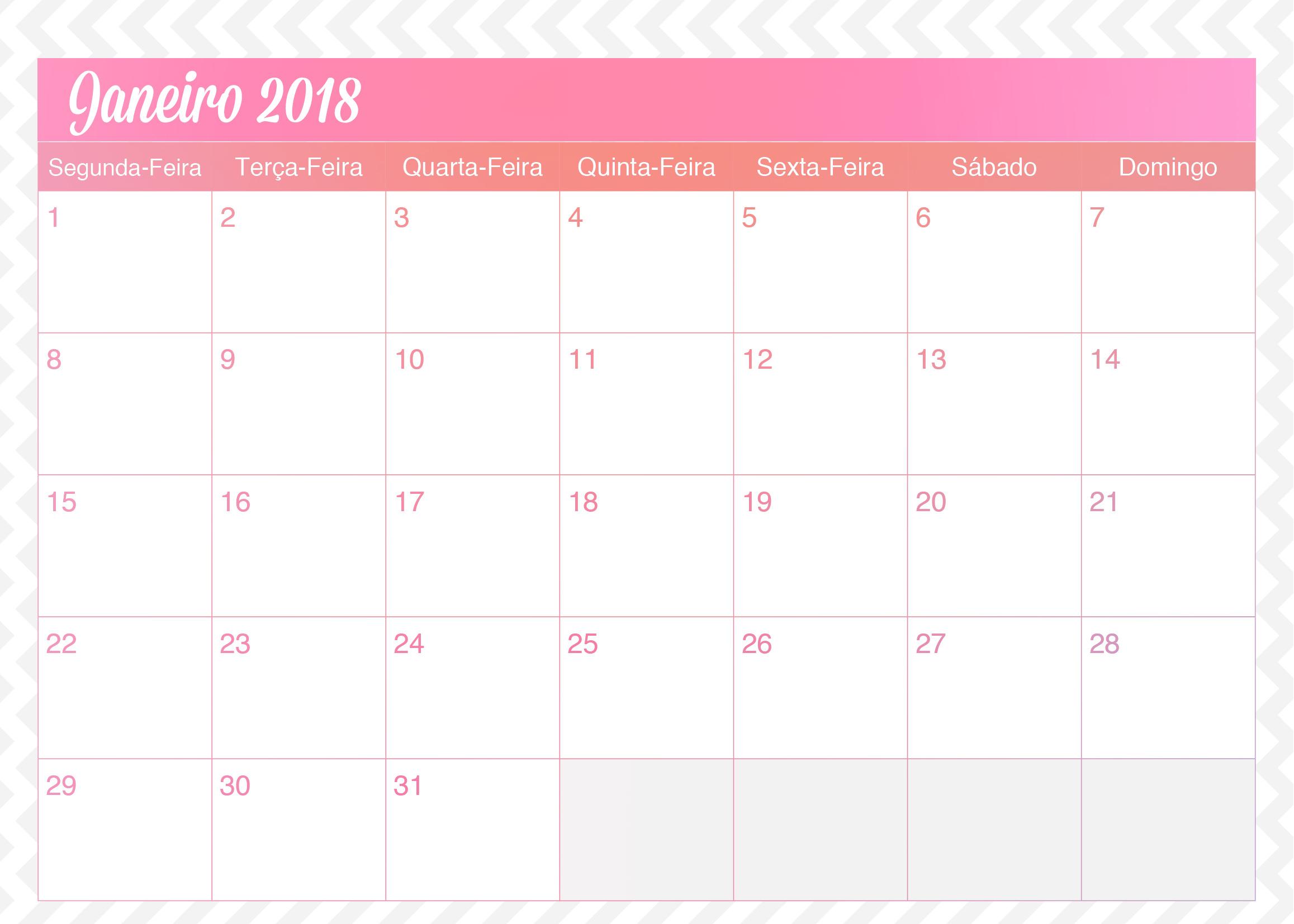 Calendario Mensal Planner de Professor Unicornio Janeiro