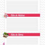 Caderno de Planejamento para Professores Lista Corujinha