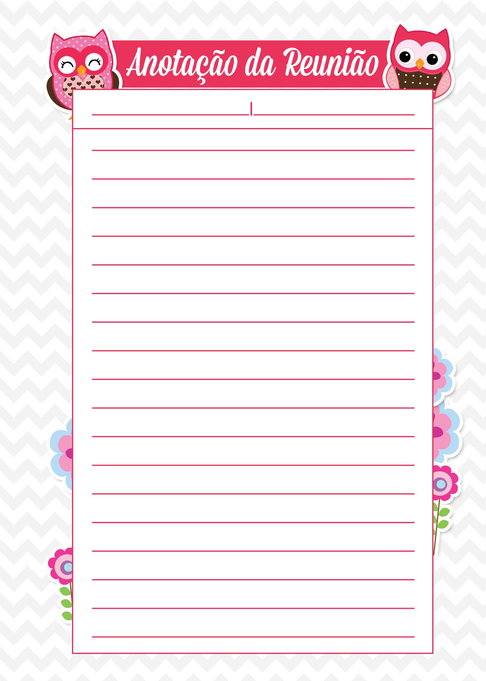 Caderno de Planejamento para Professores Reuniao Corujinha