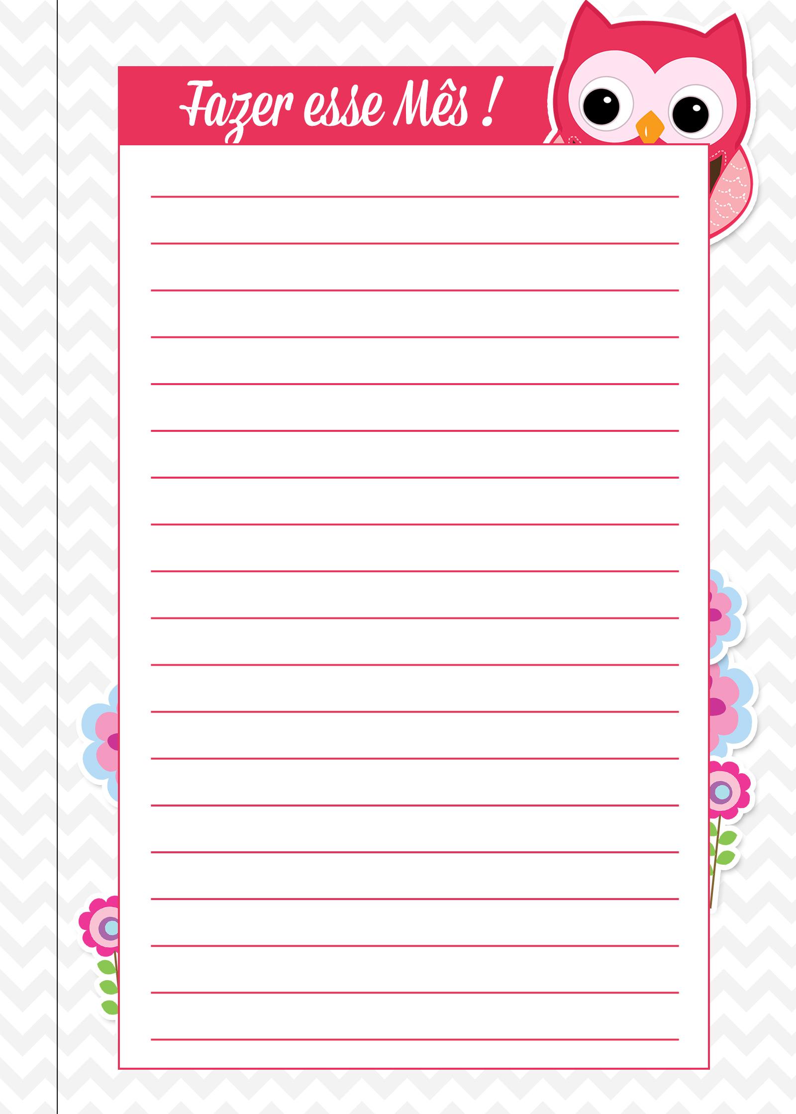 Caderno de Planejamento para Professores autoavaliacao fazer esse mes corujinha
