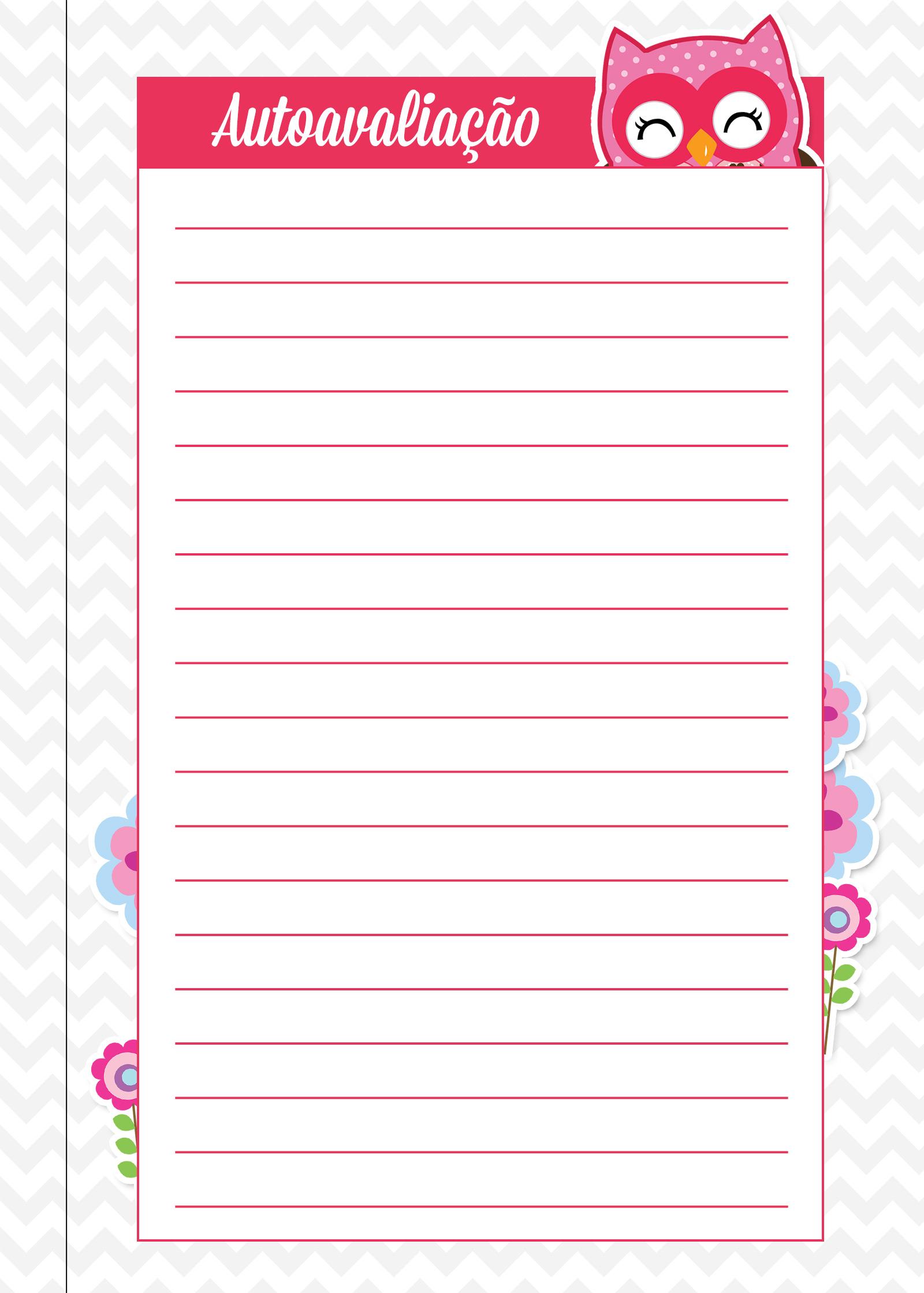 Caderno de Planejamento para Professores autoavaliacao