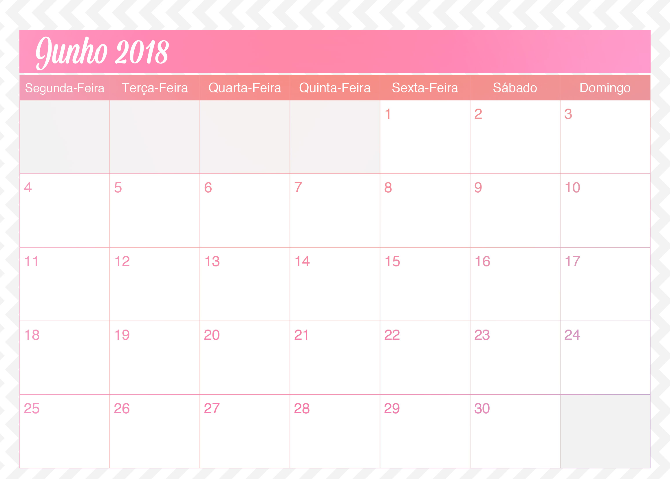 Calendario Mensal Planner de Professor Unicornio Junho