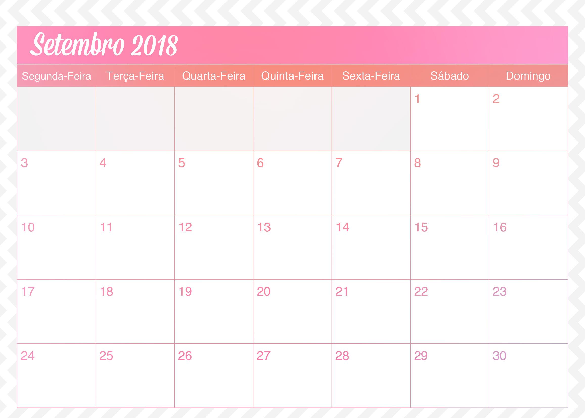 Calendario Mensal Planner de Professor Unicornio Setembro