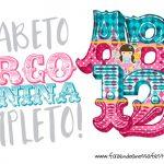 Alfabeto Festa Circo Menina Grátis para Personalizar e Imprimir