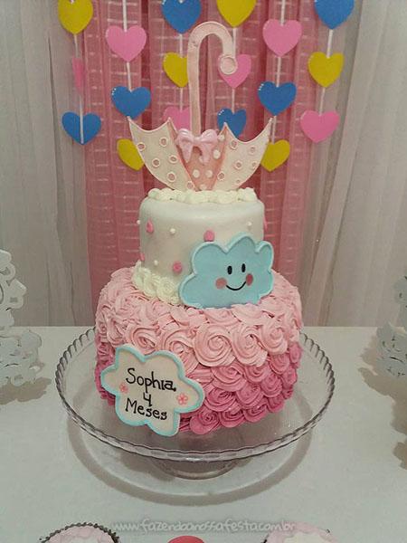 Bolo 2 Festa Chuva de Amor da Sophia