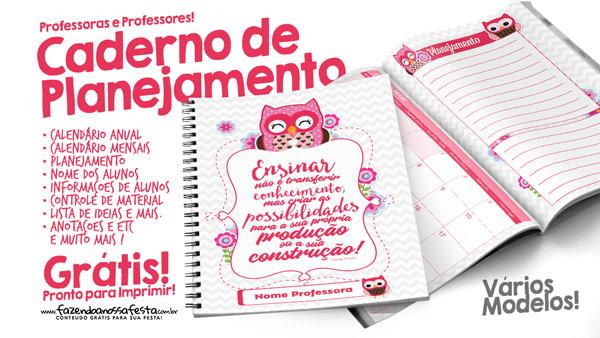 Caderno de Planejamento para Professores Grátis