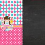 Convite Chalkboard Tema Circo Menina