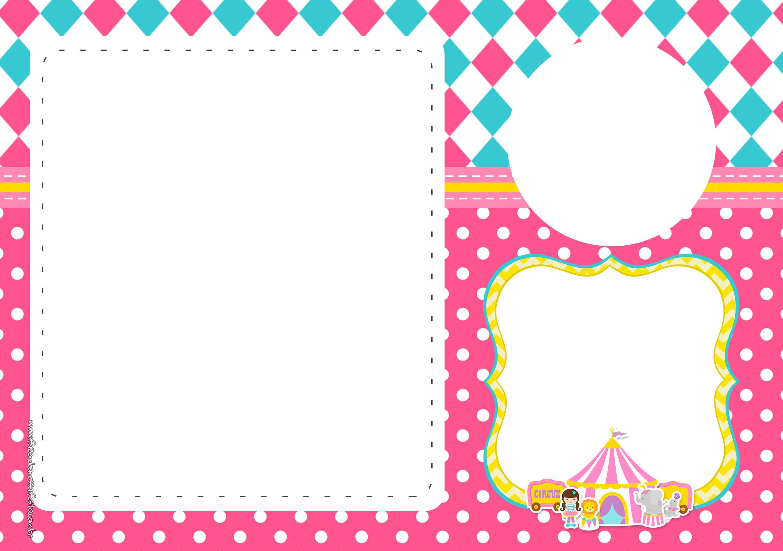 Convite Festa Circo Menina 4