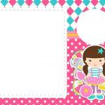 Convite Circo Menina 5