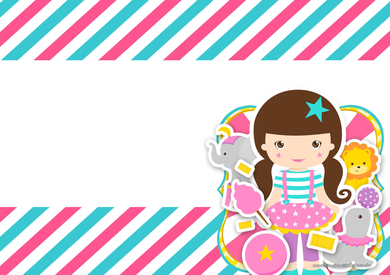 Convite Circo Menina 6