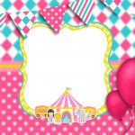 Convite Circo Menina 7
