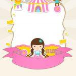 Convite Especial Circo Menina