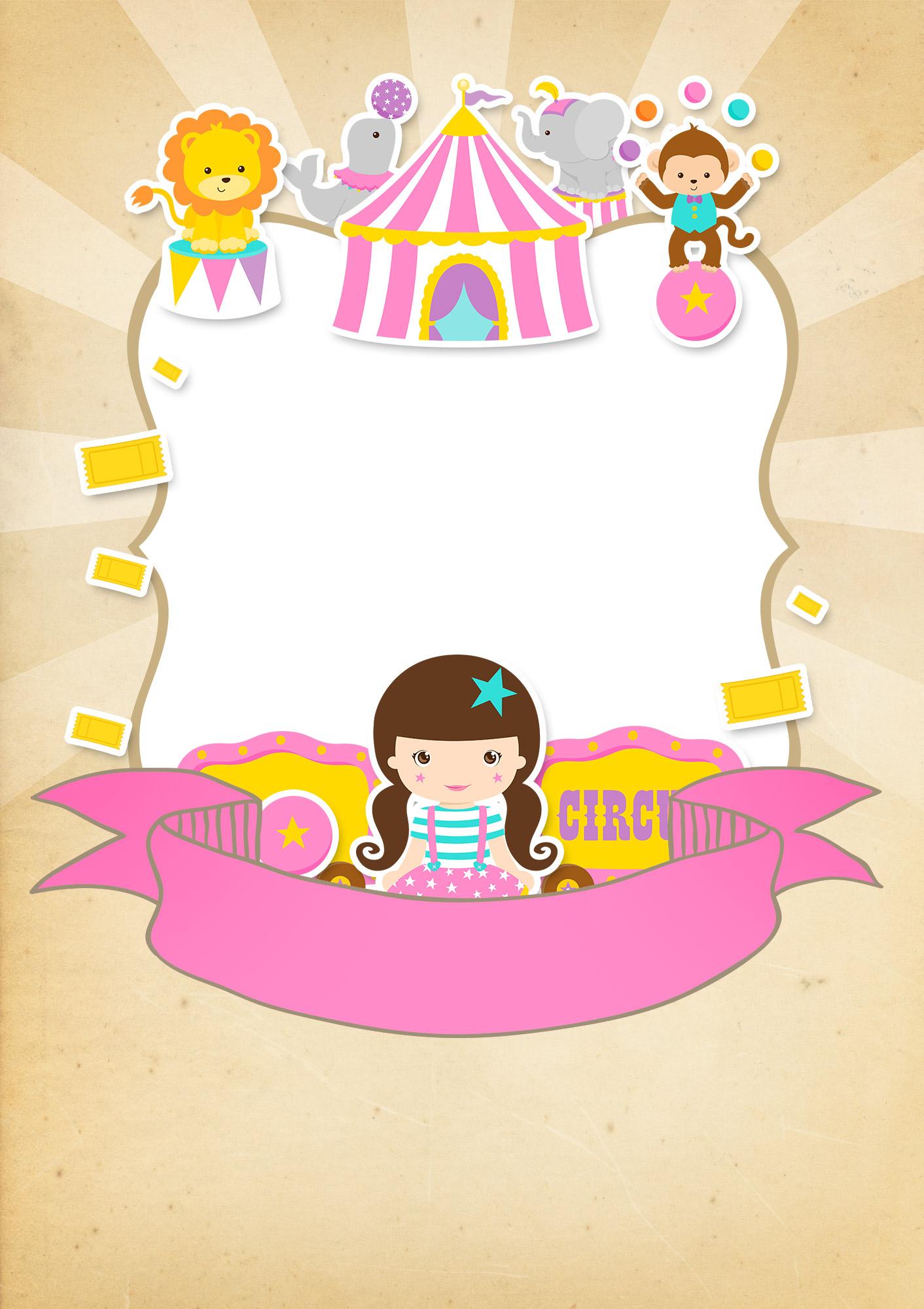 Convite Especial Circo Menina 2