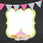 Convite Gratis para Festa Circo Menina