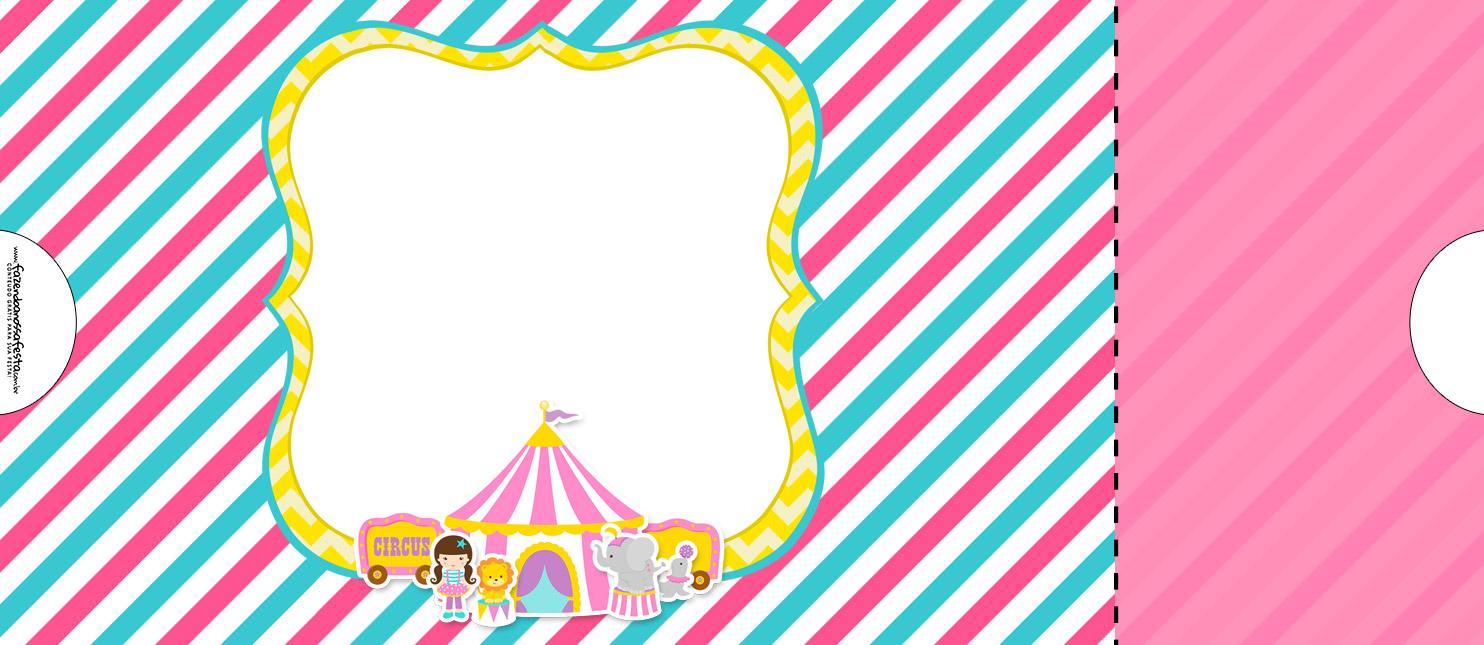 Convite Ingresso para festa Circo Menina 7
