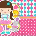 Convite Ingresso para festa Circo Menina 8