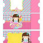 Convite Ingresso Especial Circo Menina - folha A4 3
