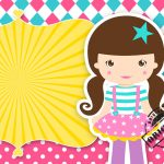 Convite Ingresso Festa Circo Menina