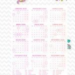 Planner 2020 Calendario Unicornio Rosa