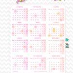 Planner Professor Unicornio Calendario 2019