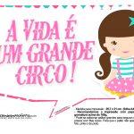 Plaquinhas para festa Circo Menina 3