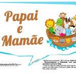 Plaquinhas divertidas Arca de Noe 12