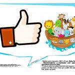 Plaquinhas divertidas Arca de Noe 15