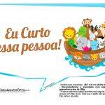 Plaquinhas divertidas Arca de Noe 9