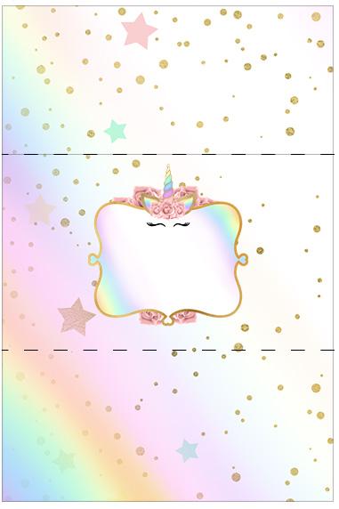 Bala Personalizada Unicornio Colorido
