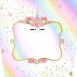 Balde de Pipoca Unicornio Colorido