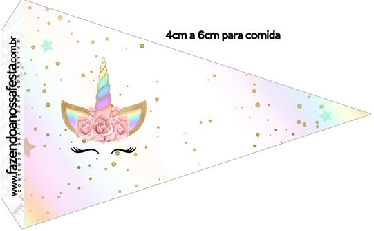 Bandeirinha Sanduiche 1 Unicornio Colorido