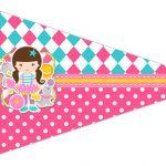 Bandeirinha Sanduiche 2 Circo Menina