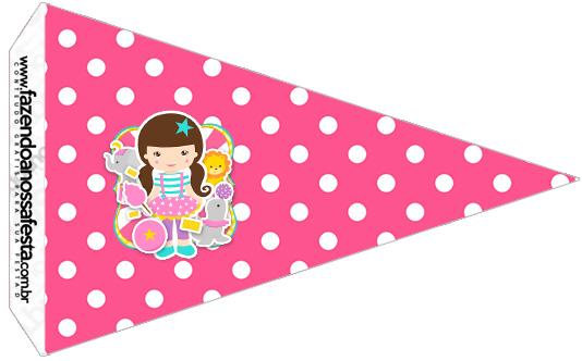 Bandeirinha Sanduiche 3 Circo Menina