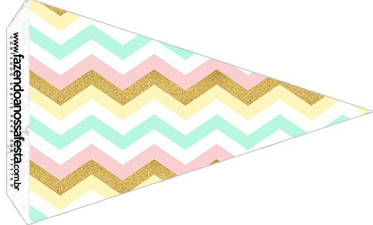Bandeirinha Sanduiche 4 Unicornio Colorido