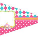 Bandeirinha Sanduiche 5 Circo Menina