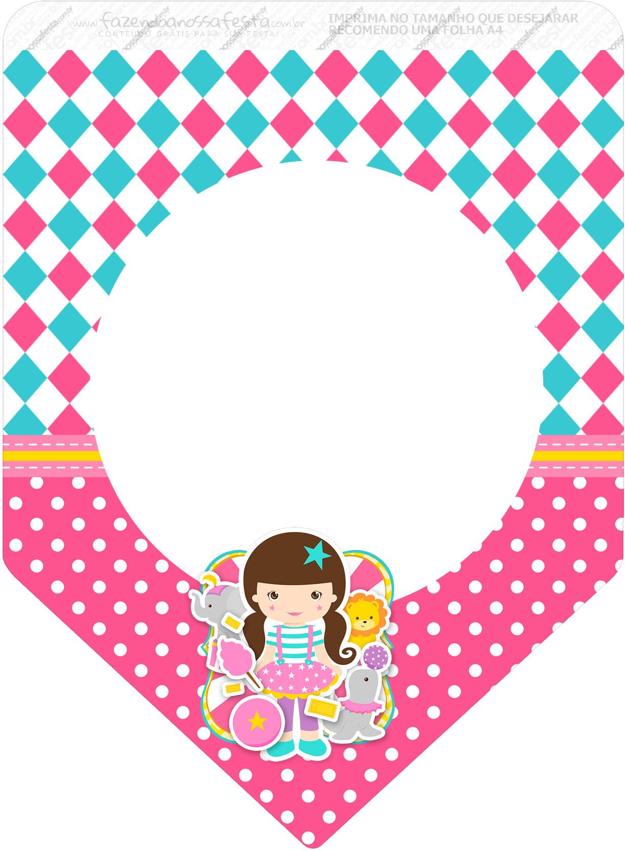 Bandeirinha Varalzinho 3 Circo Menina