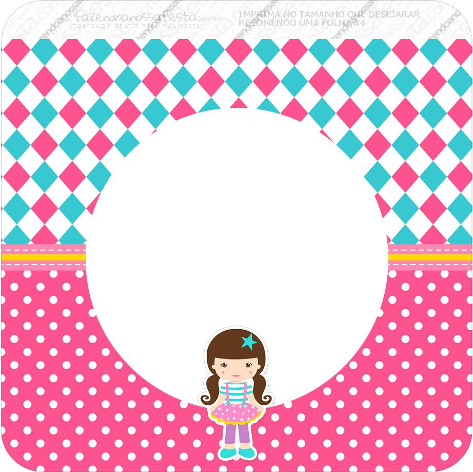 Bandeirinha Varalzinho Quadrada Circo Menina