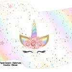 Bandeirinha Varalzinho Unicornio Colorido