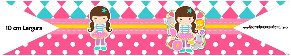 Bandeirinha para Sanduiche Circo Menina