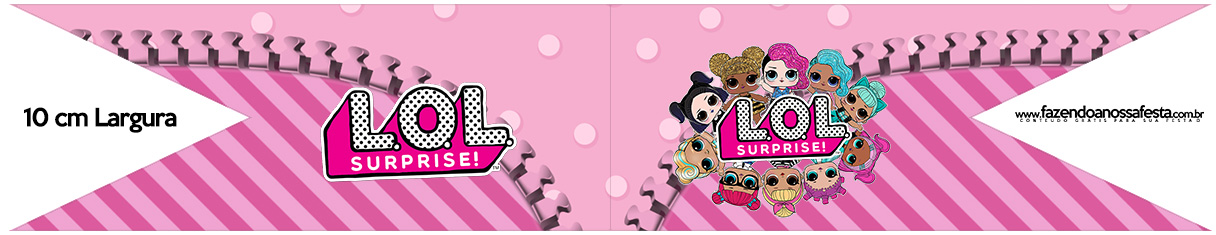 Bandeirinha para Sanduiche LOL Surprise Kit Festa