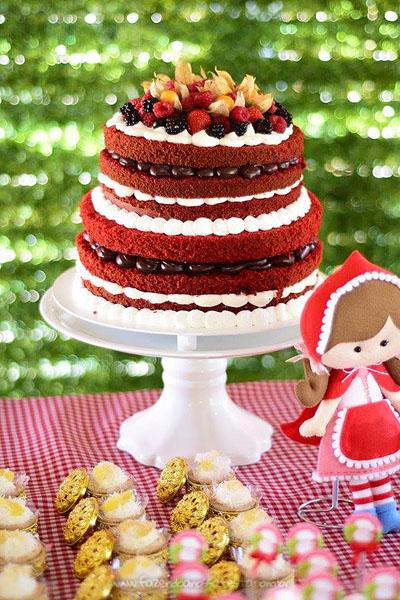 Bolo Festa Personalizada Chapeuzinho Vermelho da Isabela