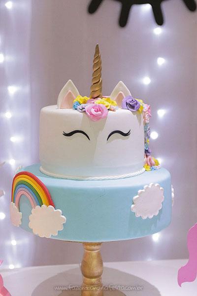 Bolo Festa Unicornio da Ana Elisa 2
