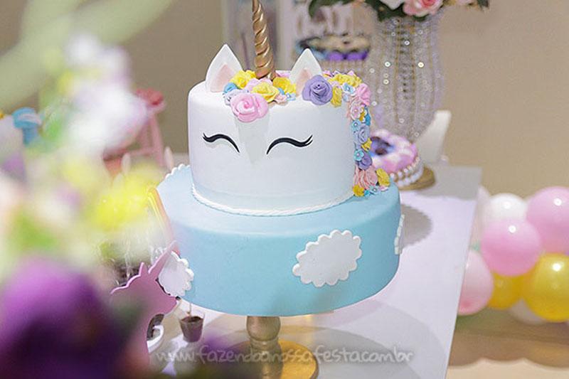 Bolo Festa Infantil Unicornio da Ana Elisa