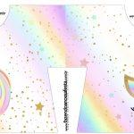 Caixa Camisa Unicornio Colorido Kit Festa