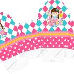 Caixa Cupcake Circo Menina