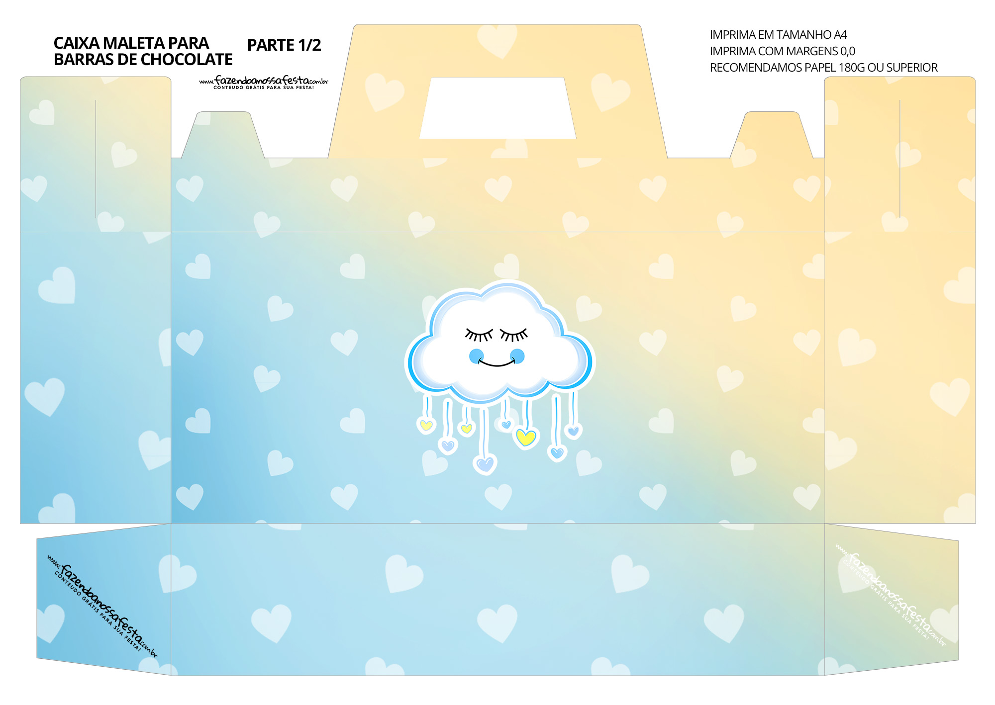 Caixa Maleta para Pascoa Chuva para Amor Menino 01