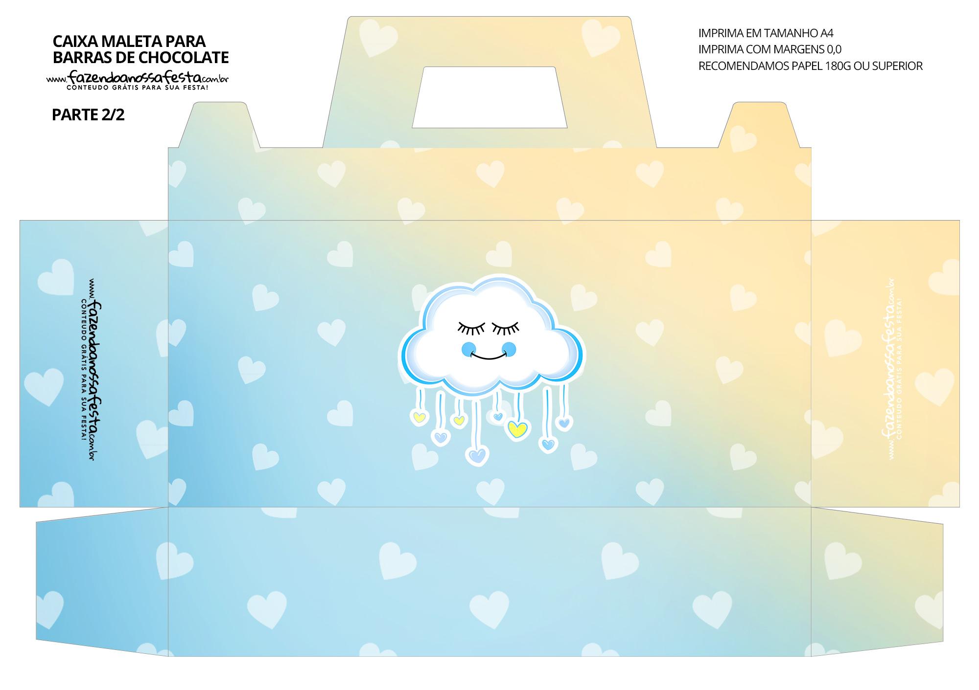 Caixa Maleta para Pascoa Chuva para Amor Menino 02